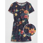 Kids Print Cinched-Waist Dress
