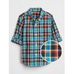 Toddler Plaid Convertible Long Sleeve Shirt