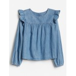 Kids Ruffle Denim Top
