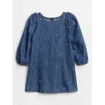 Toddler Polka Dot Denim Dress