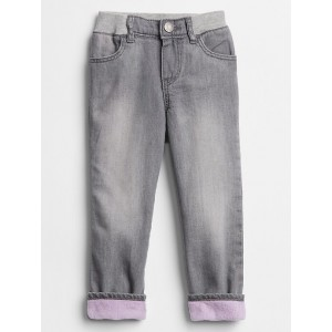 Toddler Fleece-Lined Straight Jeans