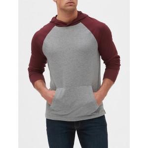 Colorblock Raglan Pullover Hoodie
