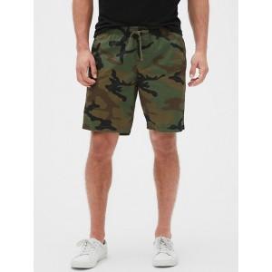 9&#34 Camo Print Easy Shorts
