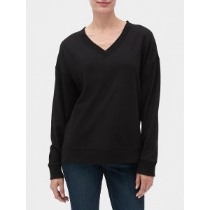 V-Neck Pullover Tunic in French Terry