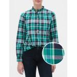 Plaid Ruffle Popover Shirt