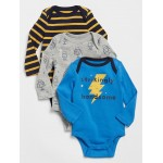 Baby Long Sleeve Bodysuit (3-Pack)