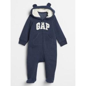 Baby Gap Logo Sherpa-Lined One-Piece