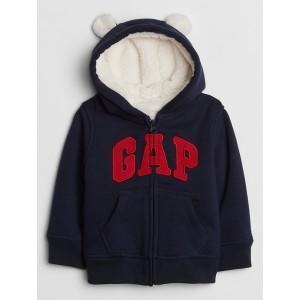 Baby Sherpa-Lined Logo Hoodie