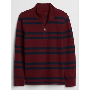 Kids Half-Zip Mockneck Sweater