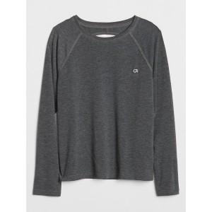 GapFit Kids Open-Back Long Sleeve T-Shirt