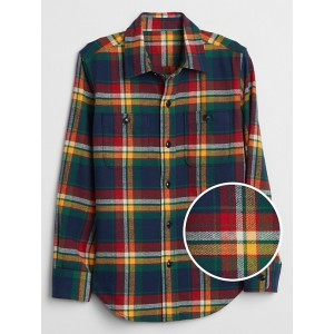 Kids Flannel Long Sleeve Shirt