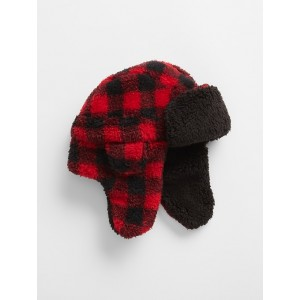 Kids Plaid Sherpa Trapper Hat