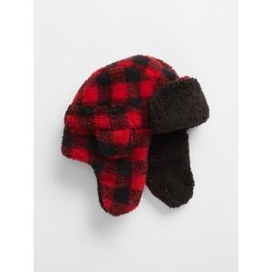 Kids Plaid Sherpa Trapper Hat