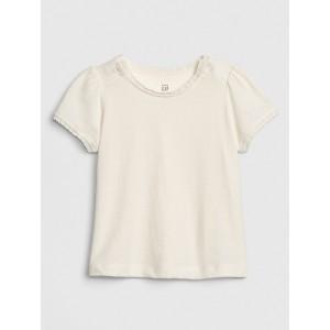 Baby Lace-Trim Short Sleeve T-Shirt