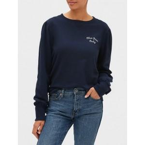 Blouson Sleeve Crewneck Sweatshirt