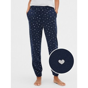 Print Joggers in Cotton Modal