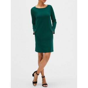 Zip-Pocket Dress in Ponte