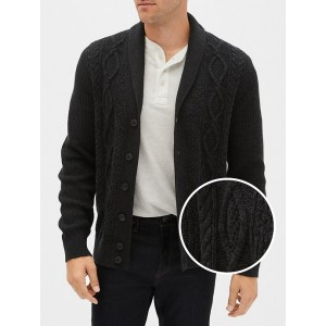 Cable-Knit Cardigan Sweater