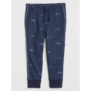 Toddler Knit-Lined Pull-On Twill Joggers