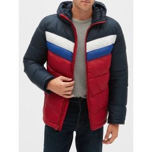 Heavyweight Colorblock Puffer Jacket