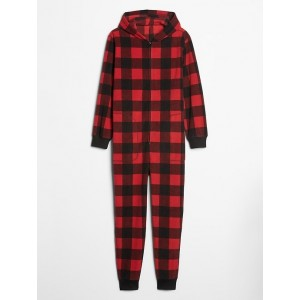 Plaid Hooded Onesie Jumpsuit