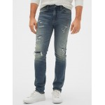 Destructed Skinny Jeans with GapFlex