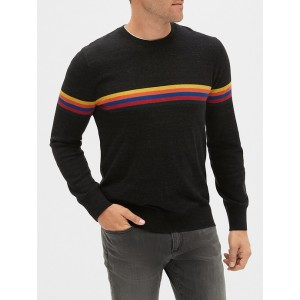 Crazy Stripe Crewneck Sweater