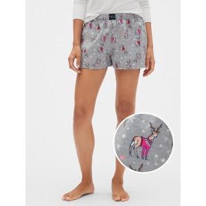 Print Flannel Shorts