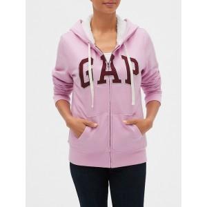 Gap Logo Sherpa-Lined Zip Hoodie