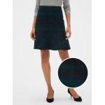 Plaid Peplum Mini Skirt