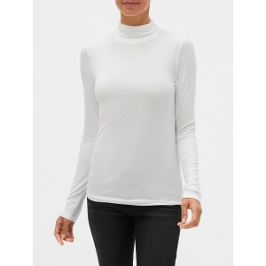 Ribbed Turtleneck T-Shirt