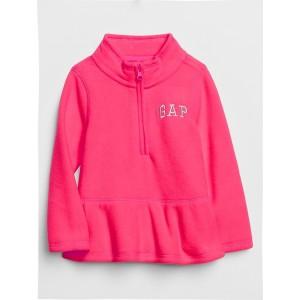 Toddler Gap Logo Peplum Fleece Pullover