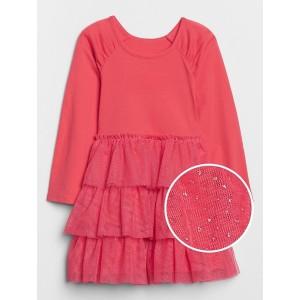 Toddler Sparkle Ruffle Mix-Media Dress