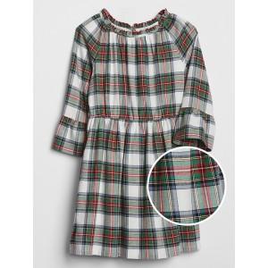 Kids Ruffle Plaid Dress