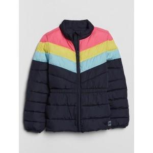 Kids Colorblock Puffer Jacket