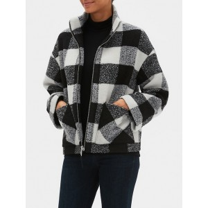 Plaid Jacket in Boucle