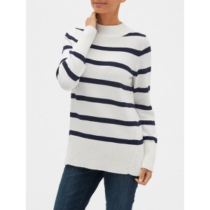Stripe Mockneck Sweater