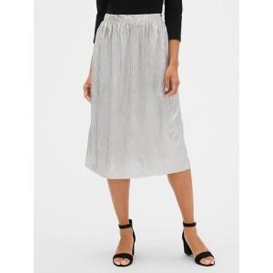 Metallic Crinkle Skirt