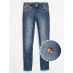 Kids Embroidered Jeggings