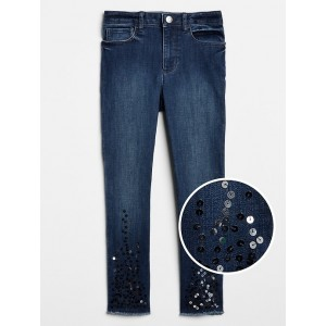 Kids High Rise Sequin Jeggings in High Stretch