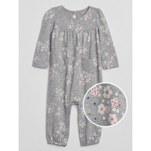 Baby Floral Print One-Piece