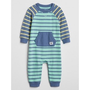 Baby Colorblock Stripe Pocket One-Piece