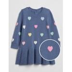 Baby Heart Print Sweater Dress