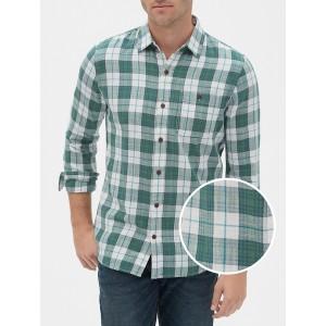 Long Sleeve Slub Shirt in Untucked Fit