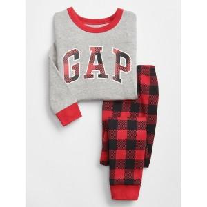 babyGap Gap Logo Plaid PJ Set
