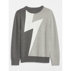 Kids Lightening Bolt Graphic Sweater