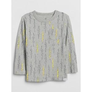 Toddler Print Long-Sleeve Pocket T-Shirt