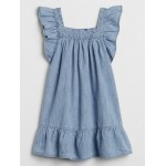 Toddler Ruffle Denim Dress