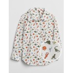 Toddler Print Poplin Shirt