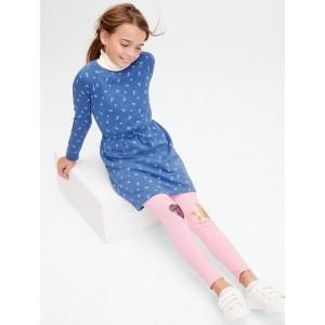 Kids Print Cinched-Waist Sweatshirt Dress